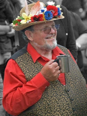 Morris man with mug of beer