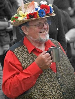 Morris man with mug of beer