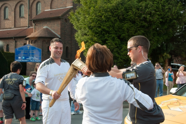 Lighting the torch