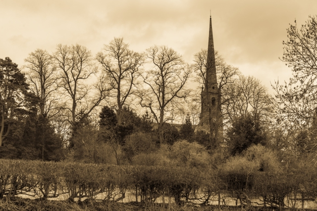 Tardebigge Church seen from the canal