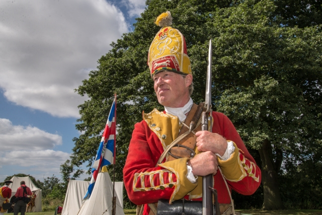 An 18th century Grenadier in full rig