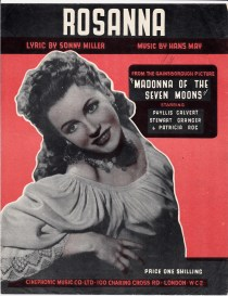 Vintage sheet music cover Rosanna (Madonna of the Seven Moons)
