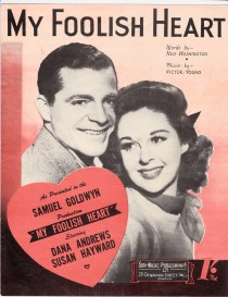 Vintage sheet music cover My Foolish Heart
