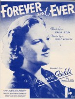 Vintage sheet music cover Forever & Ever (Gracie Fields)