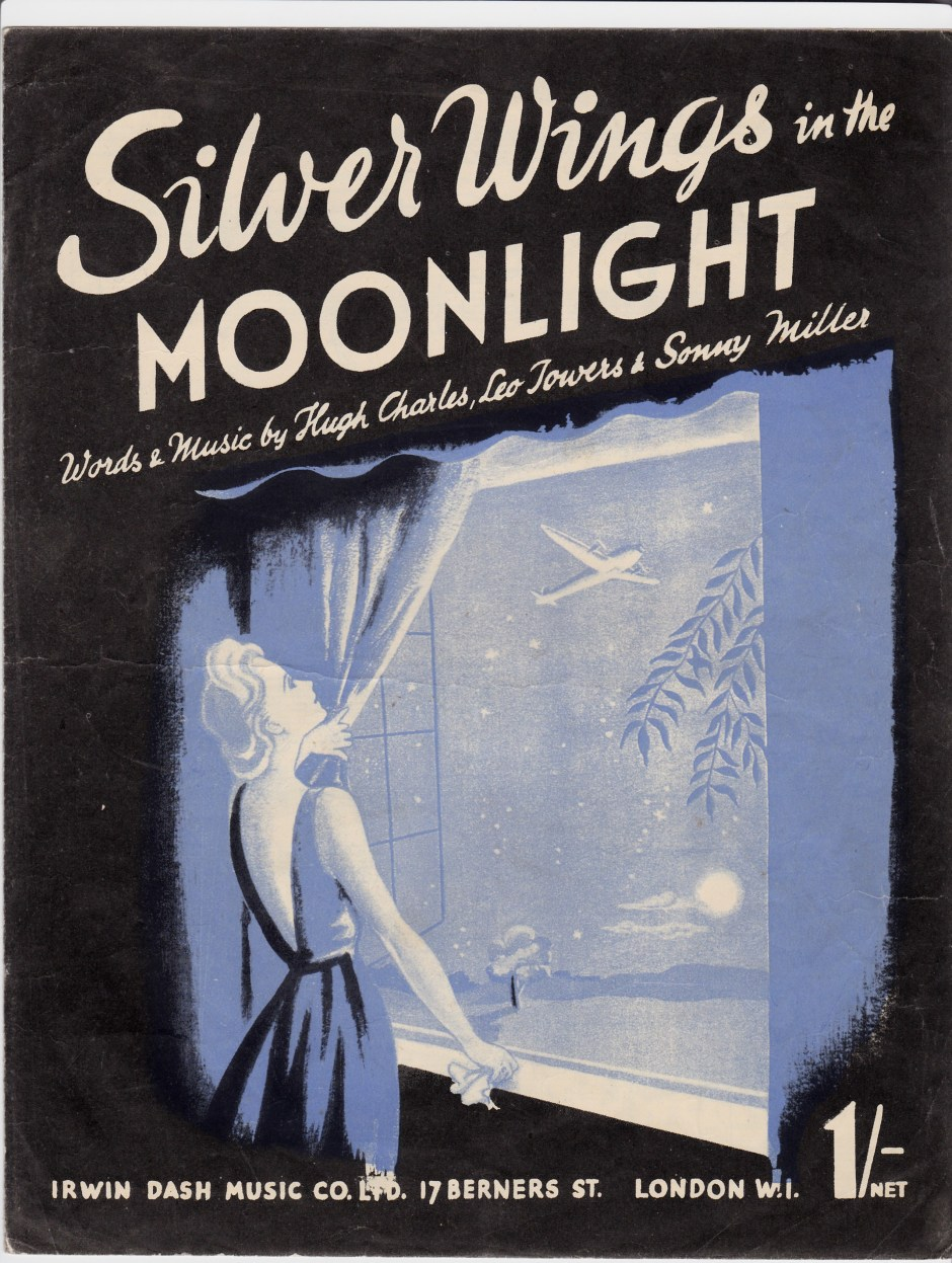 Vintage sheet music cover Silver wings in the Moonlight