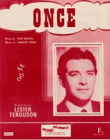 Vintage sheet music cover - Once