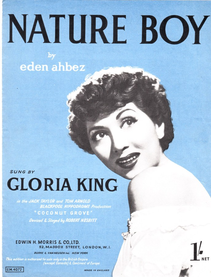 Nature Boy Vintage sheet music cover