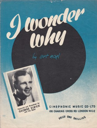 Vintage sheet music cover I Wonder Why