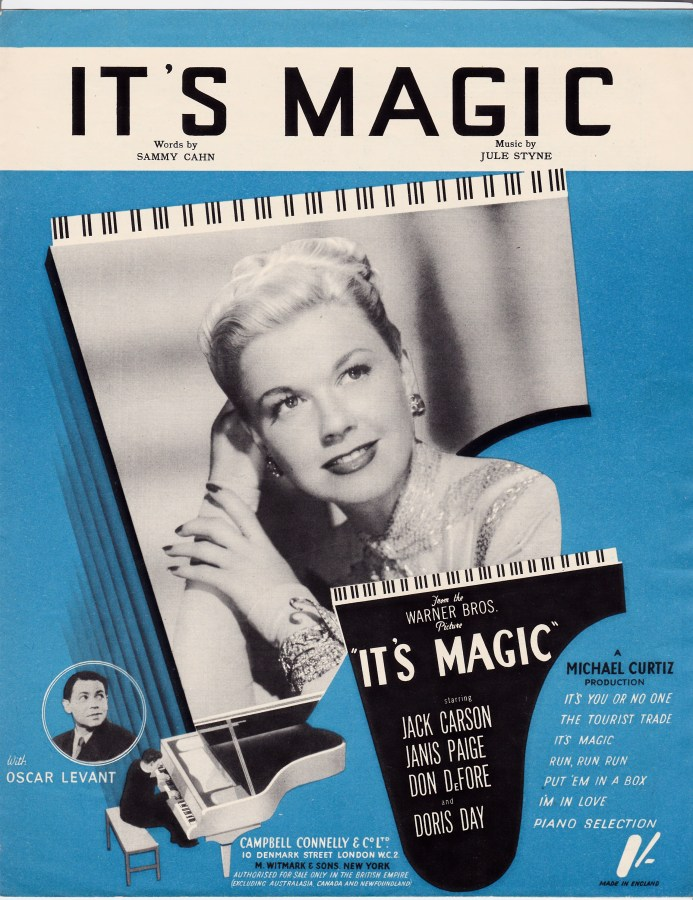 Vintage sheet music cover It's Magic
