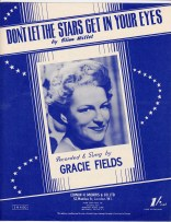 Vintage sheet music cover Don't Let the Stars Get in Your Eyes (Gracie Fields)