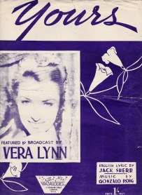 Vera Lynn Yours Vintage sheet music cover