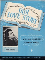 Vintage sheet music cover Our Love Story