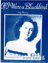 If I Were a Blackbird Vintage sheet music cover