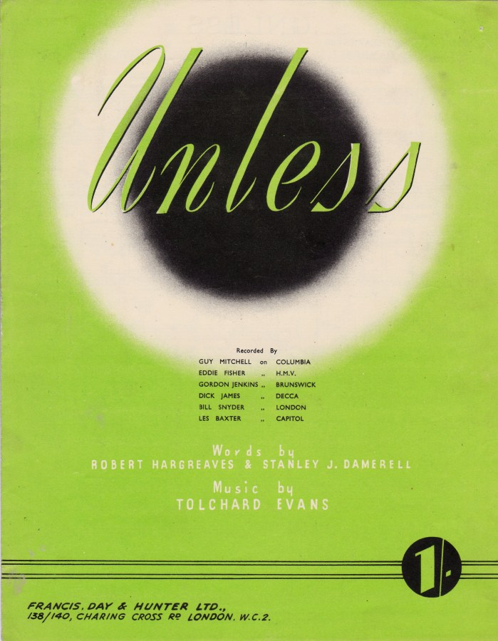 Unless sheet music cover