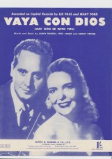 Vaya con Dios sheet music cover