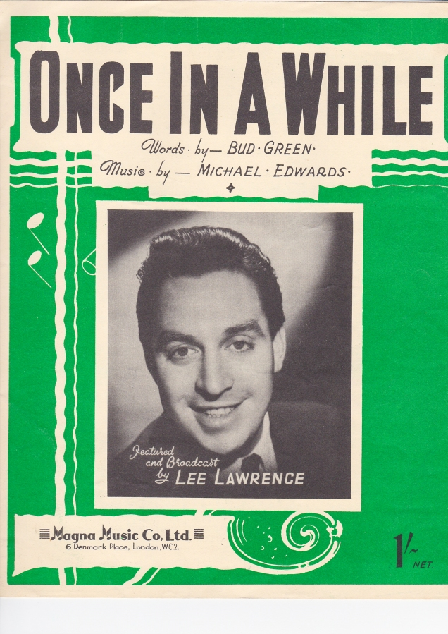 Once in a While sheet music cover
