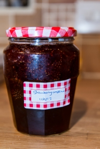 A strawberry conserve - spot the floating fruit!