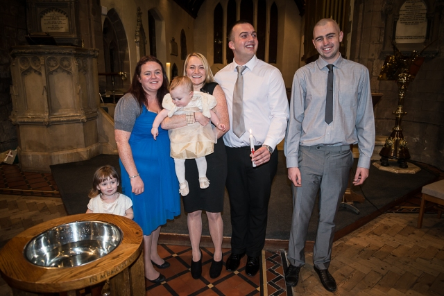 family group and godparents