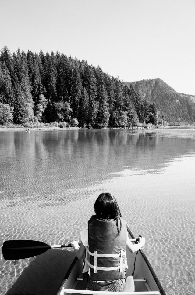Ricoh GRV Pitt Lake BC Canoe