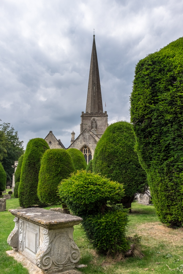 Church and yews