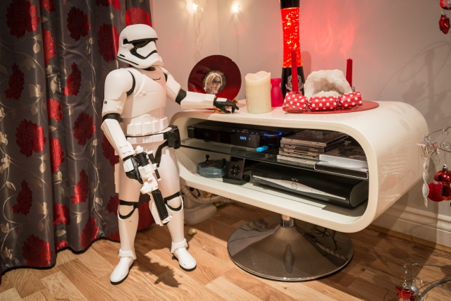 Doesn't every living room have a stormtrooper?